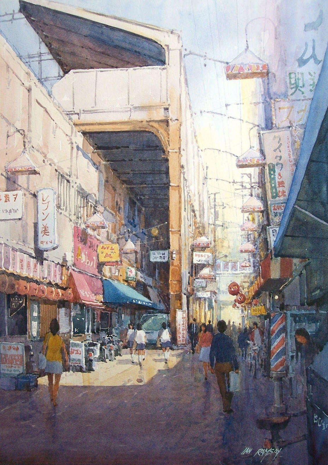 Ian Ramsay City Painting Watercolor Paintings Watercolor