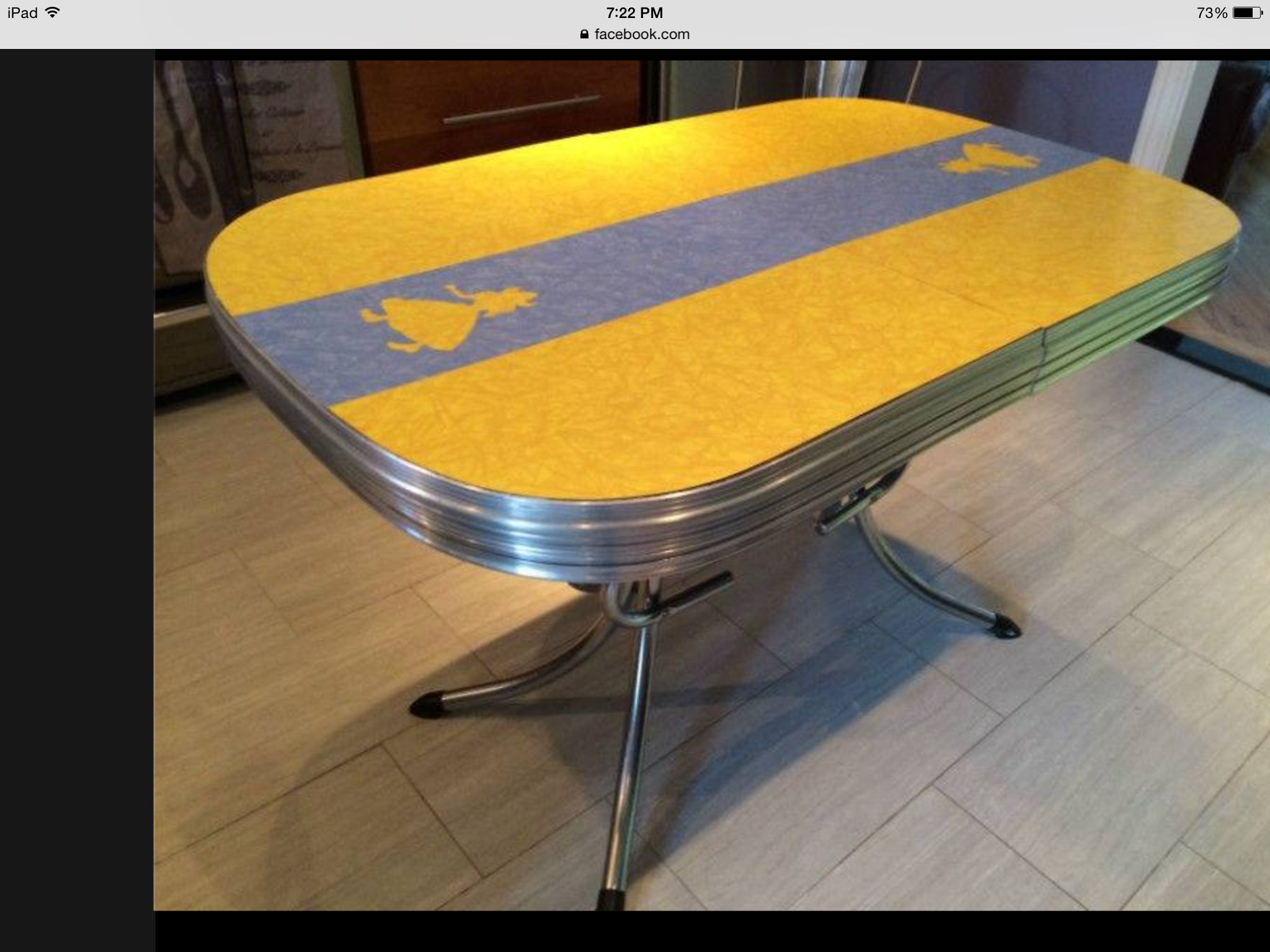 This Retro Chrome And Formica Kitchen Table Was On Kijiji In Ottawa Love It Formica Table Table Formica