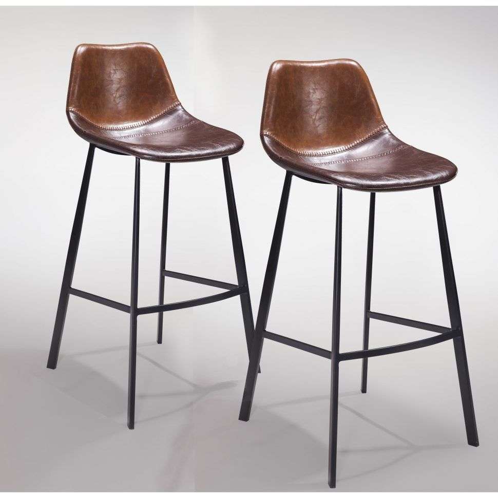 Bar Stools Brown Leather Gingko Home Furnishings Pablo Bar Stool Julien Kitchen Stools With Nailheads Height Cream Bar Stools Counter Stools Leather Bar Stools