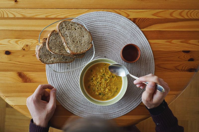 Spicy Lentil Soup! German Recipe! #proteinbomb