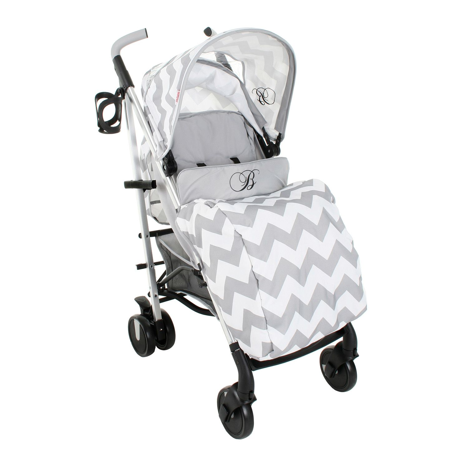 My Babiie Billie Faiers MB50 Stroller in Grey Chevron – Next Day Delivery My Babiie Billie