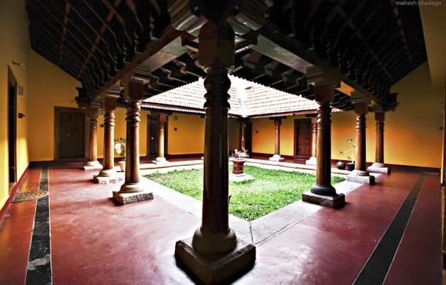 South indian traditional house plans google search for Traditional house interior