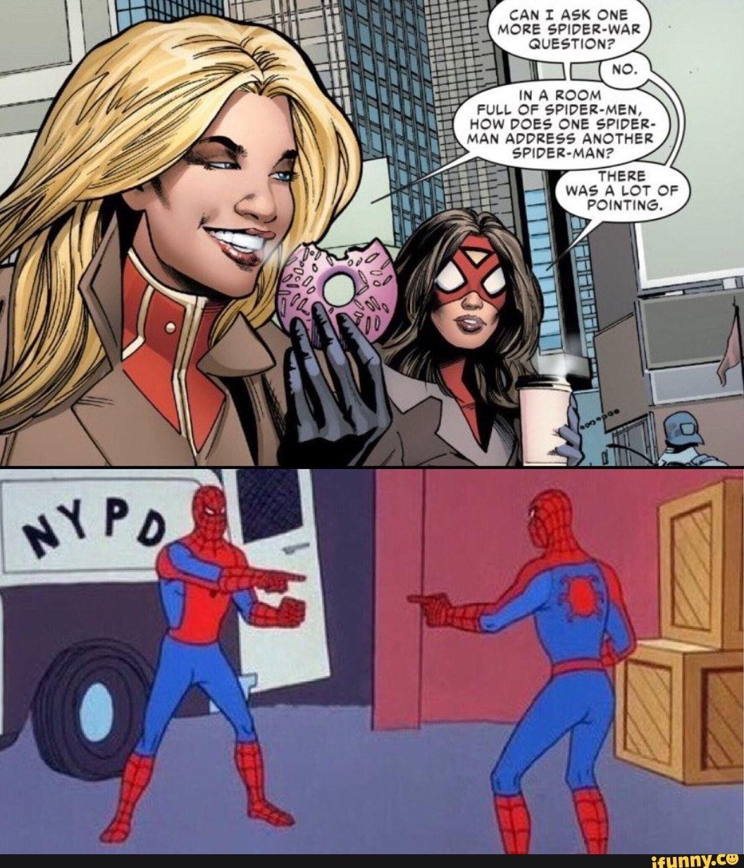Spiderman Meme Pointing 5