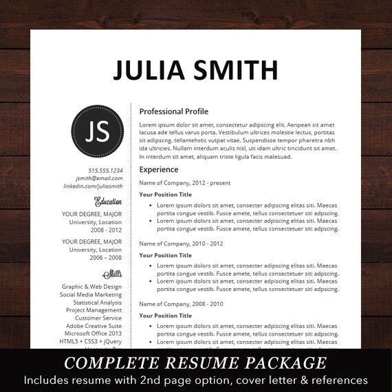 cv professional template cv template word or mac pages
