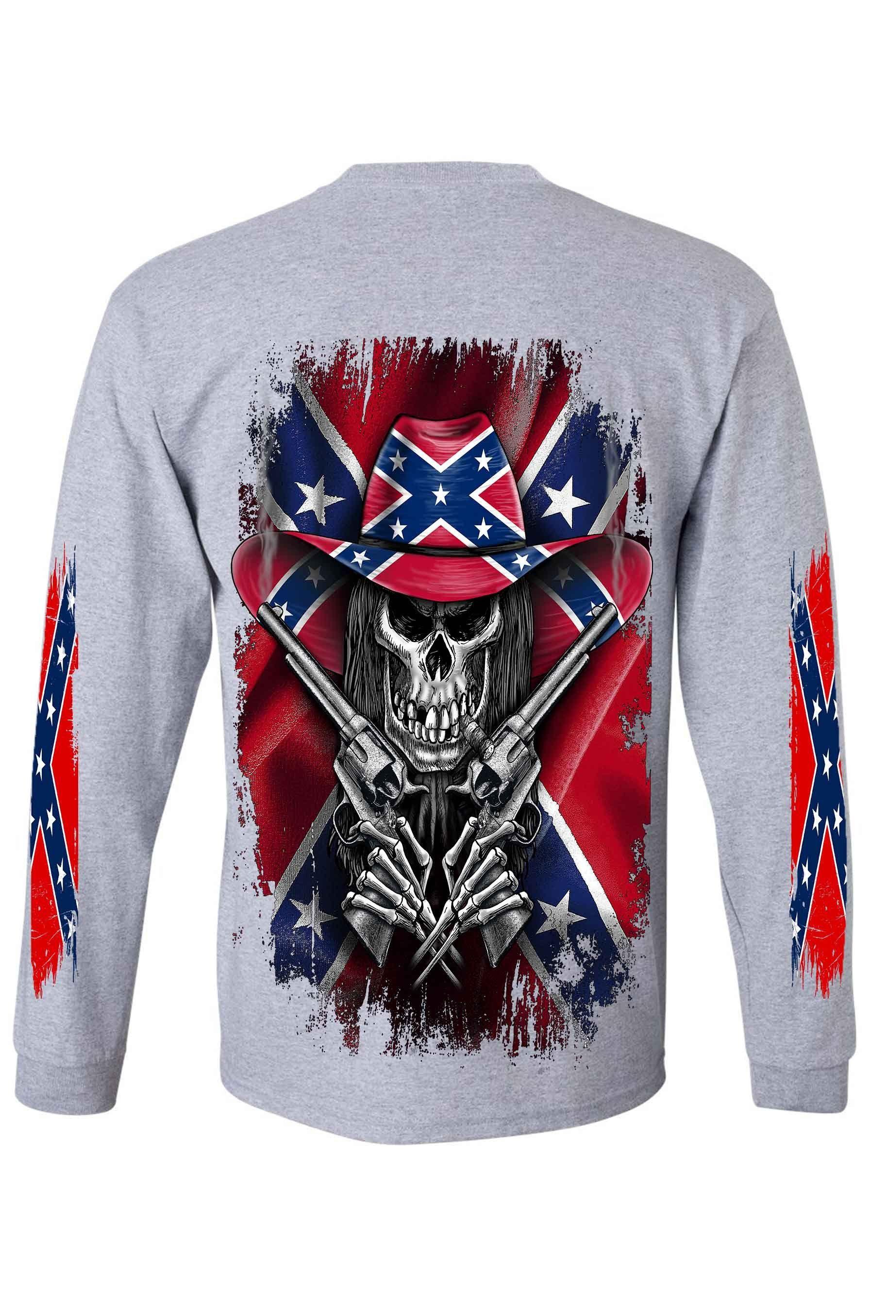 Pin On Rebel Flag Sleeveless And Long Sleeve