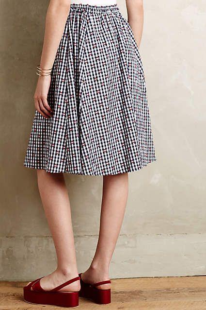 Gingham Market Skirt - anthropologie.com