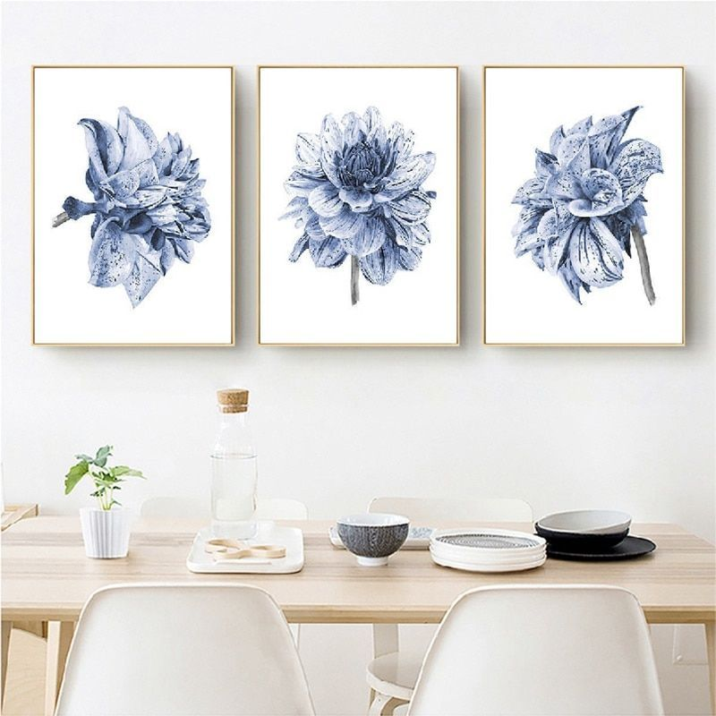 Watercolor Painting Farmhouse Bedroom Wall Decor Boho Dahlia Flower Canvas Art Posters and Prints Navy Blue Wall Art Pictures -   - #Art #AsianDecorbathroom #AsianDecordining #AsianDecorinteriordesign #AsianDecorkitchen #AsianDecorred #bedroom #Blue #Boho #bohoAsianDecor #Canvas #Dahlia #Decor #Farmhouse #Flower #Navy #painting #pictures #posters #Prints #traditionalAsianDecor #vintageAsianDecor #Wall #Watercolor