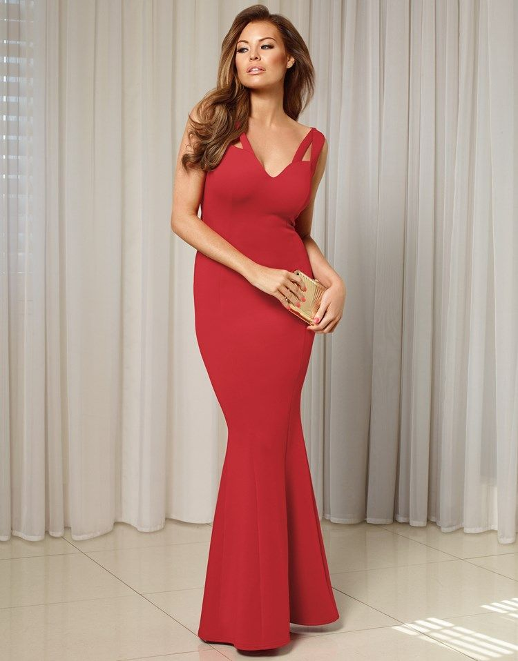 Jessica Wright Cut-out Detail Fishtail Maxi Dress
