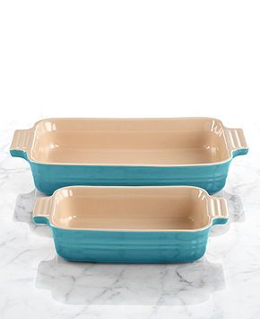 Le Creuset Classic Stoneware 10 X 7 Rectangular Baking Dish With Bonus 7 X 5 Baking Dish Cookware Kitchen Macy S Baked Dishes Creuset Cooking Kitchen Le creuset rectangular baking dish