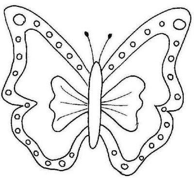 Moldes de bonitas Mariposas para pintar ~ lodijoella | mariposas ...