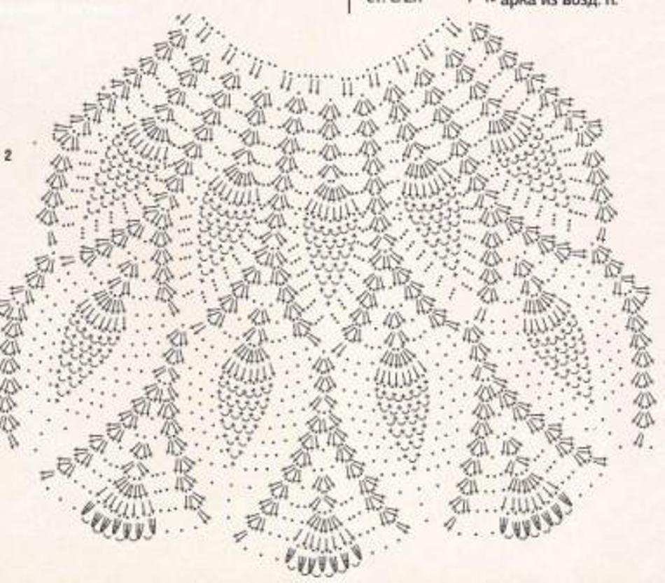 Схема узора ананас крючком фото 828