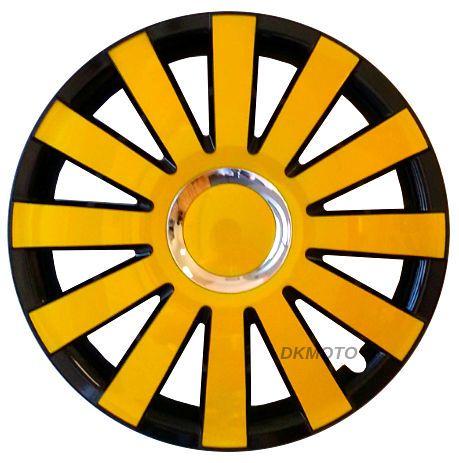 15 039 039 Ford Transit Custom Tourneo Wheel Trims Black Yellow Full Set 4x15 034 Transit Custom Ford Transit Renault Trafic