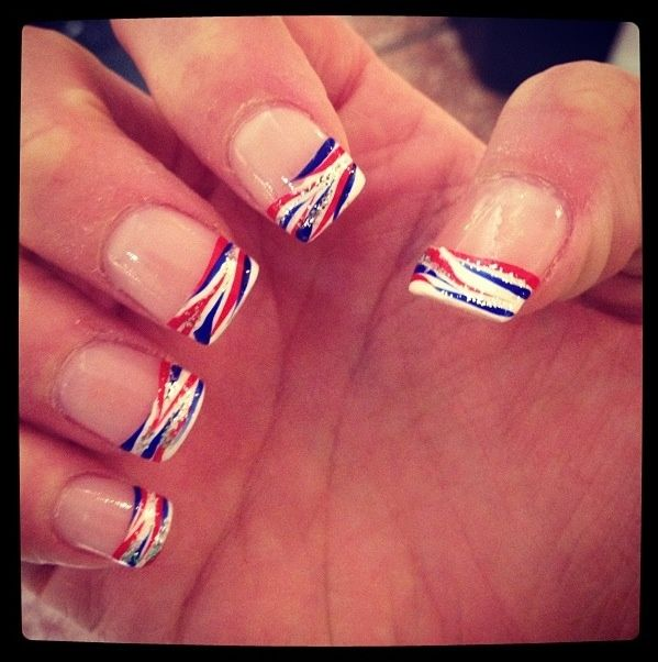 Lets Go Buffalo Buffalo Bills Nails For The Home Opener - How to make nail decals at home