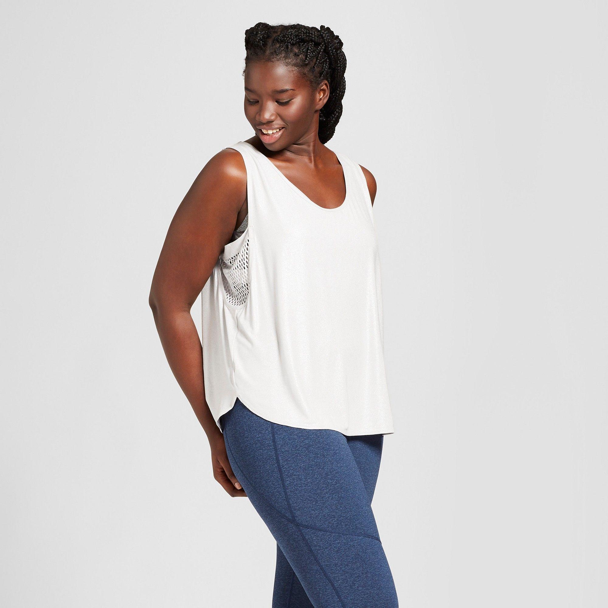 69995fb14 Women's Plus Size Shine Muscle Tank - JoyLab Silver 3X   Products ...