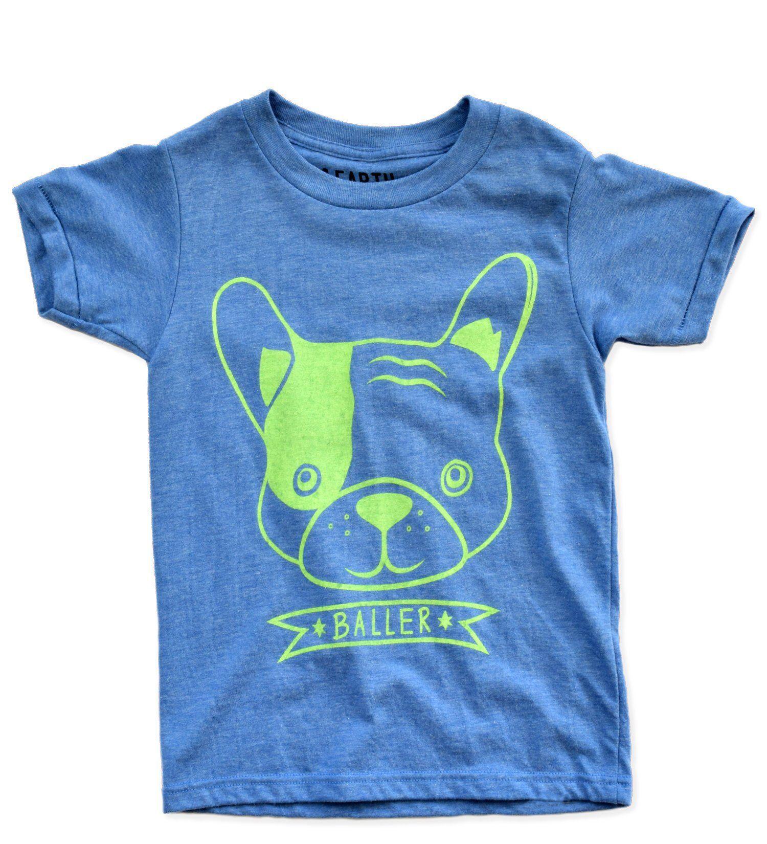 COTDREN Cute French Bulldog Boys Cotton Long Sleeve Tshirt