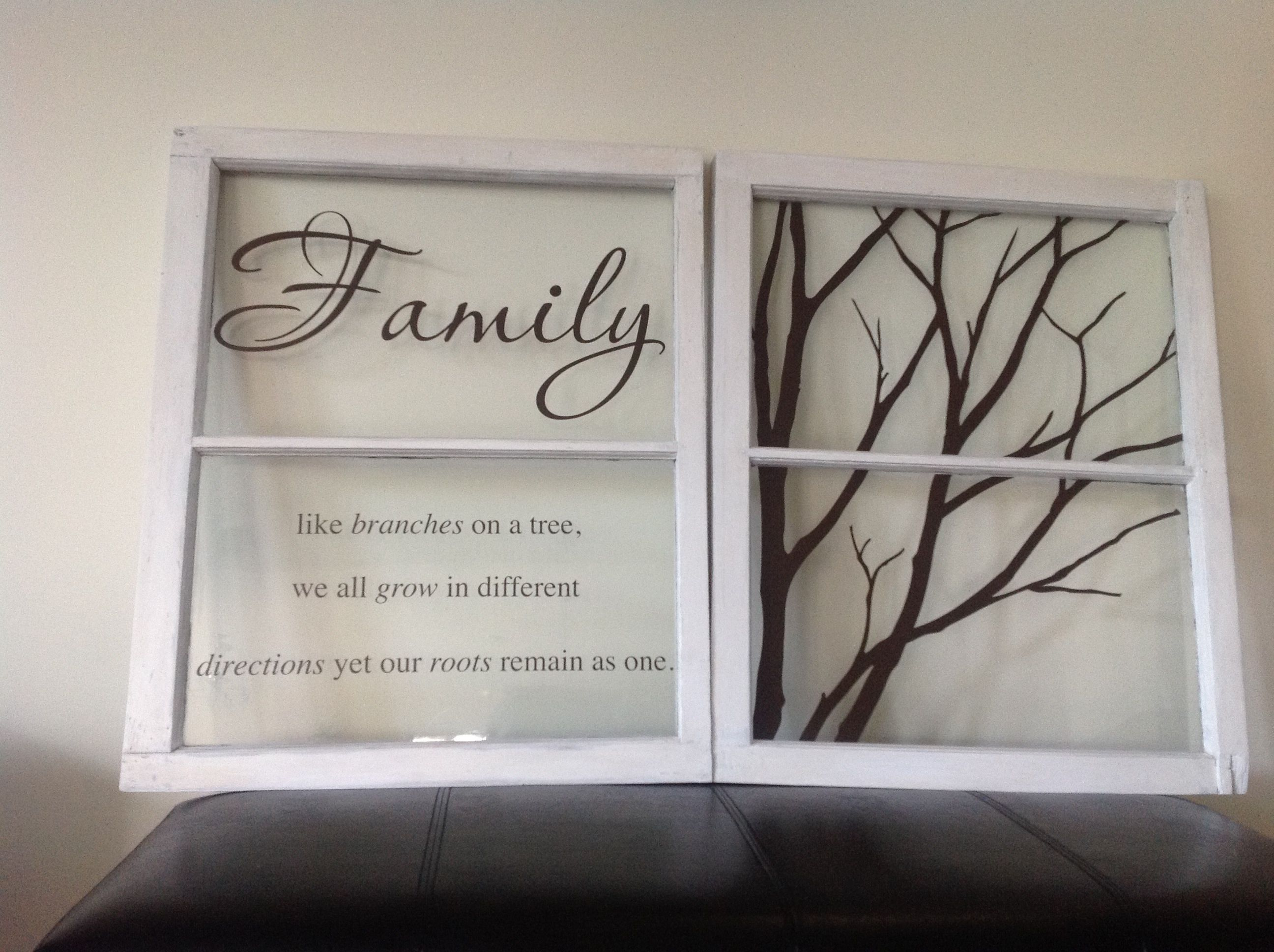 DIY Repurposed Old Windows Meaning To Get This Done For A Year - How to make vinyl decals for windows