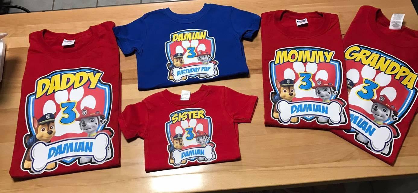 low priced big selection of 2019 best selection of 2019 Paw Patrol custom Tshirt | Matching Paw Patrol Tshirt | Paw ...