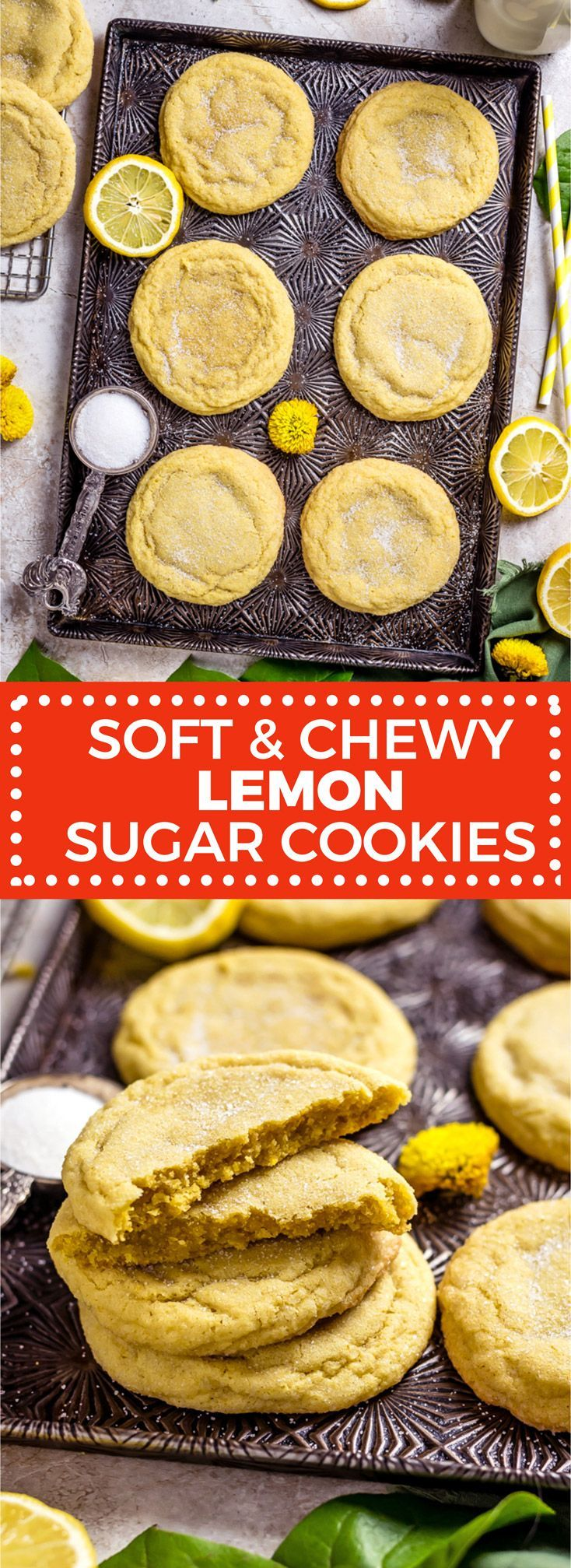 Soft and sweet lemon sugar cookies Soft and sweet lemon sugar cookies