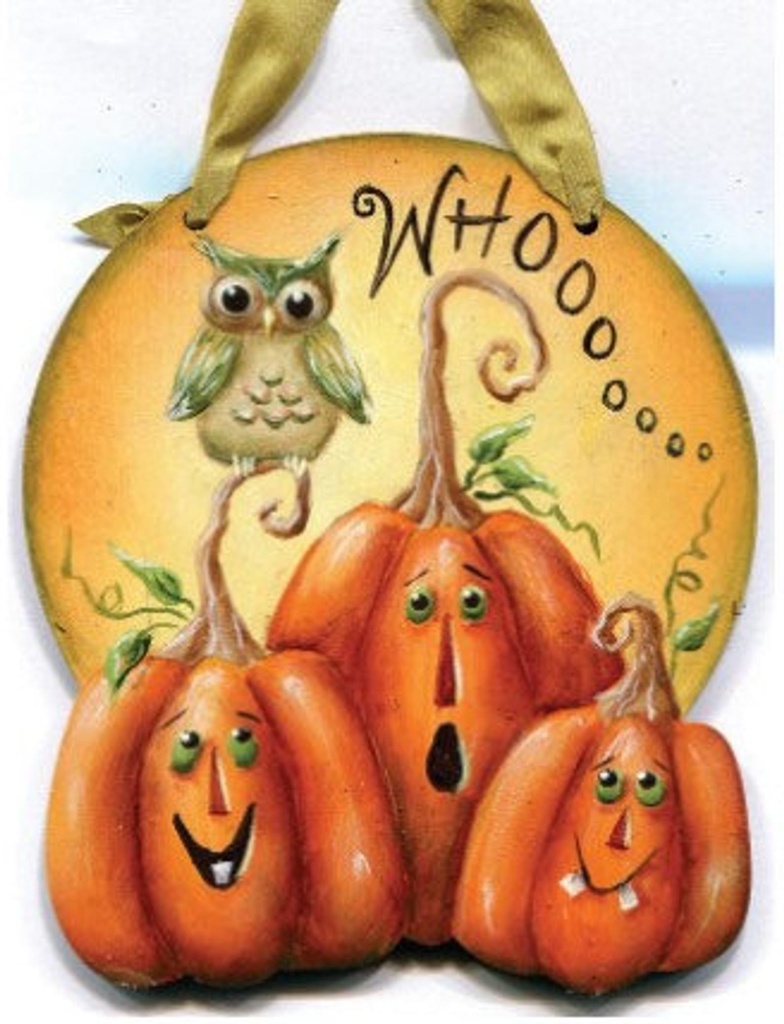 Halloween Whoooo Ornament E-Pattern #tolepainting
