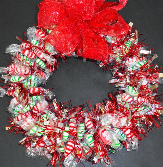 Christmas sugar free candy wreath unique gift client patient christmas sugar free candy wreath unique gift client patient centerpiece edible negle Gallery