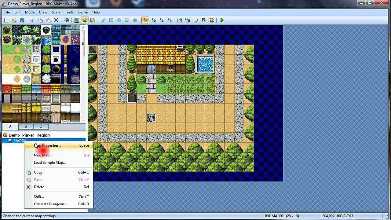 RPG Maker VxAce Tutorial: Shifting a Map  | Mystic Sword