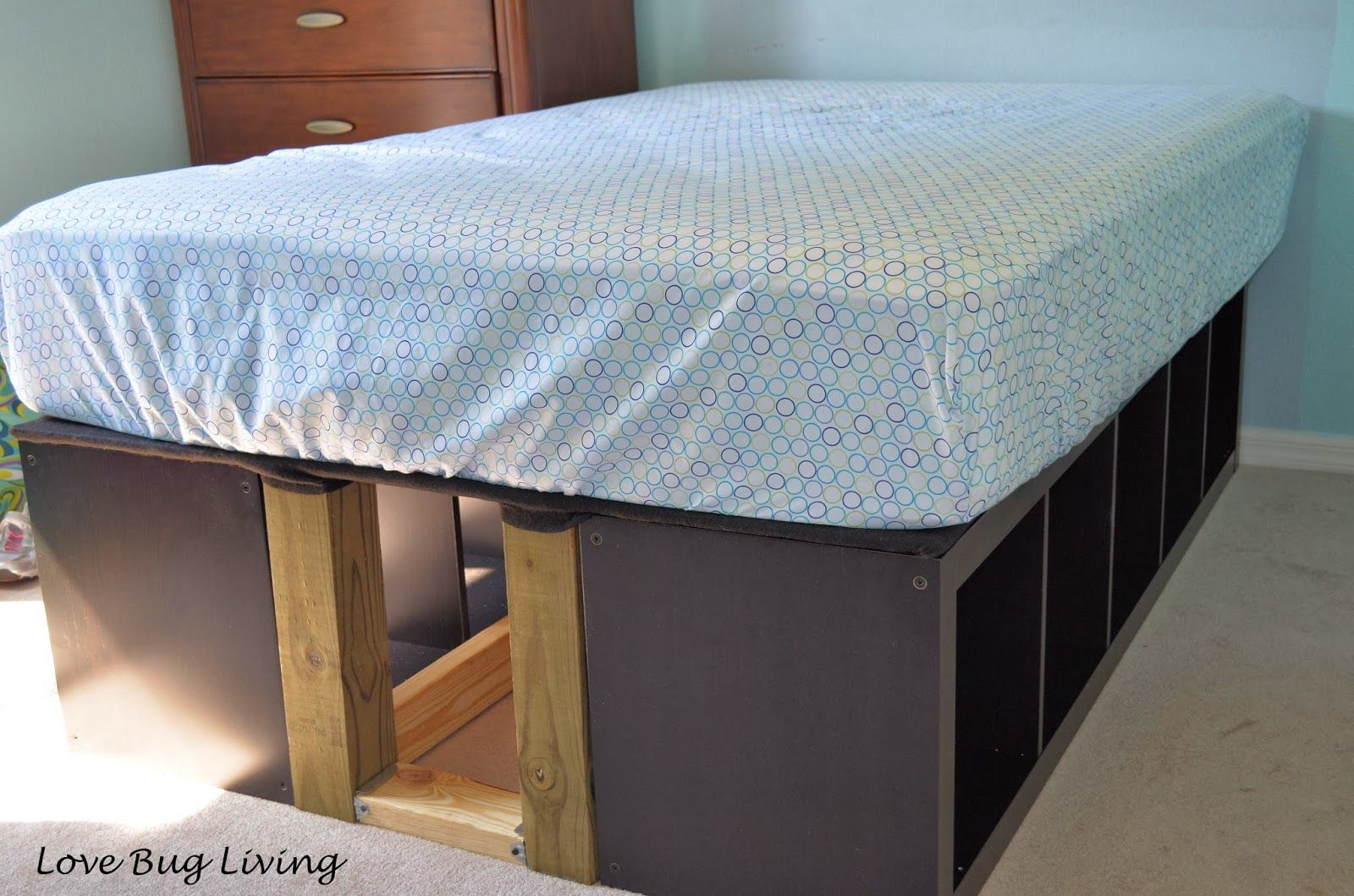 Ikea Expedit Hack Platform Bed {Love Bug Living} Ikea