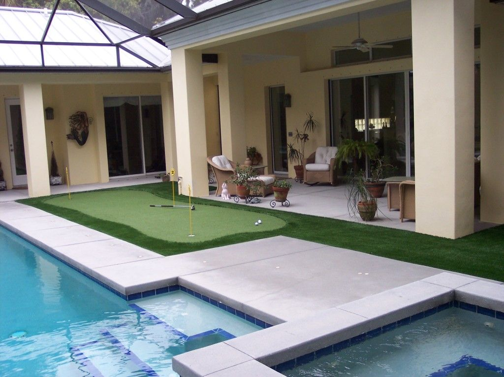 Pin By Easyturf Artificial Turf La On Easyturf Artificial Turf Backyard Putting Green Green Backyard Outdoor Pool Area