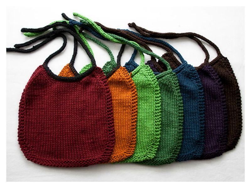 Baby Bib Free Knitting Pattern | Beginner knitting ...