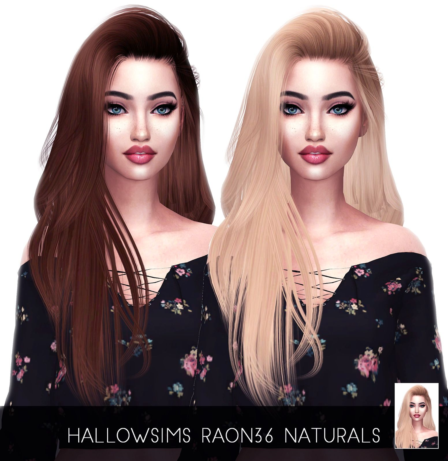 Photo of Sims 4 Hairs ~ Kenzar Sims: Raon 36 Naturals hair retextured
