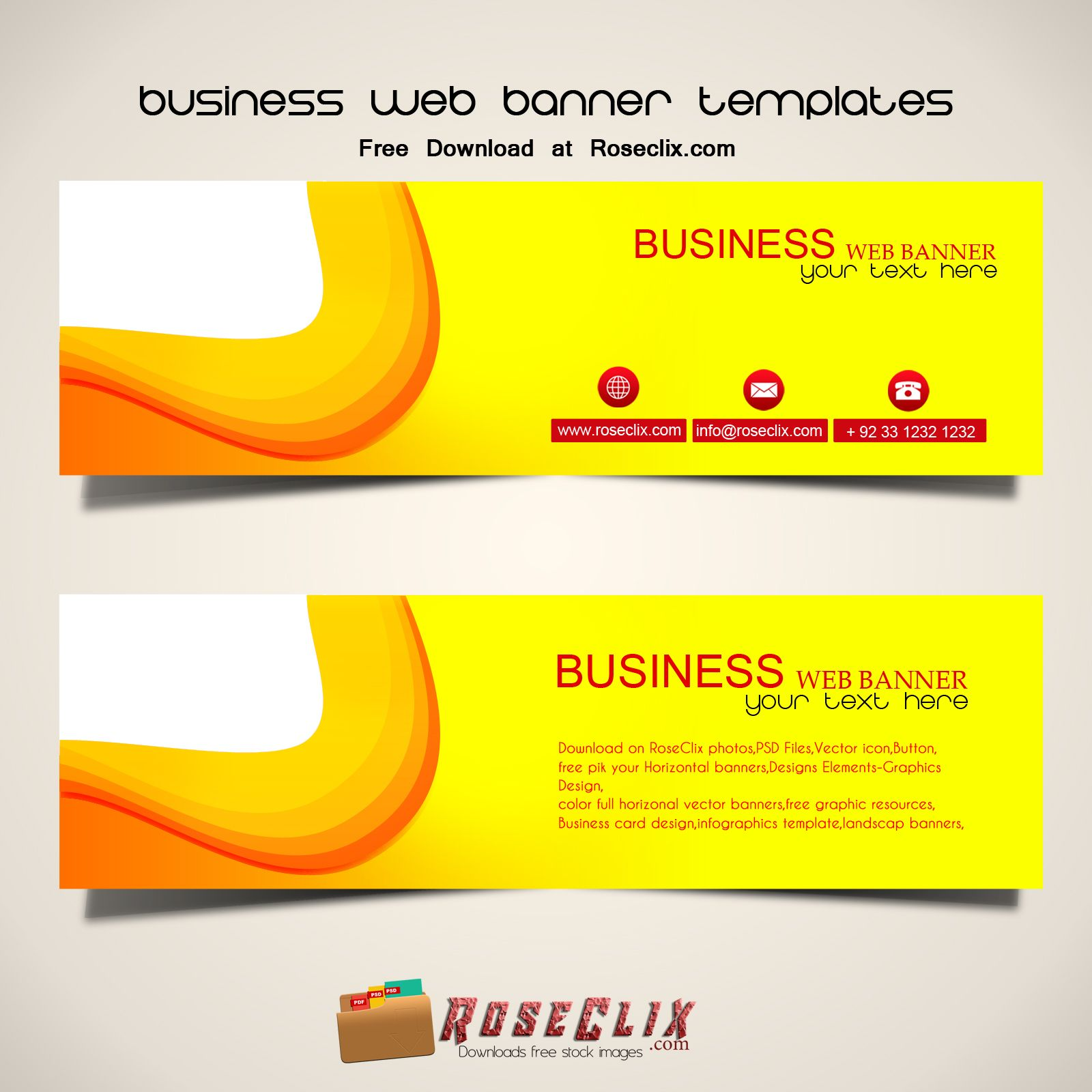 Pin By Roseclix Com On Free Web Banner Templates Banner