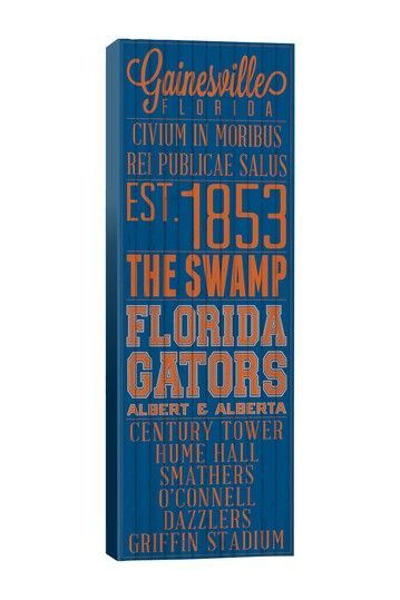 Gainsville Florida gators...some where I'd LOVE to be instead of in PA where it's been snowing non stop ALL DAY.