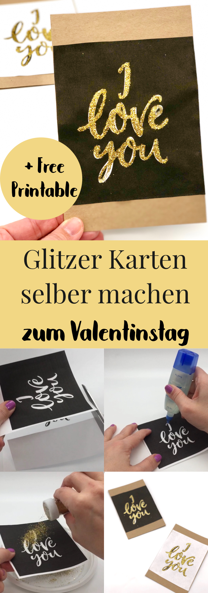 valentinstag karte selber machen geschenke f r den freund mit video deutsche diy blogger. Black Bedroom Furniture Sets. Home Design Ideas