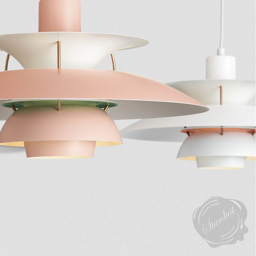 Vintage Style Limited Color P H 5 Edition Lamp Based On 1950s Louis Poulsen  Style