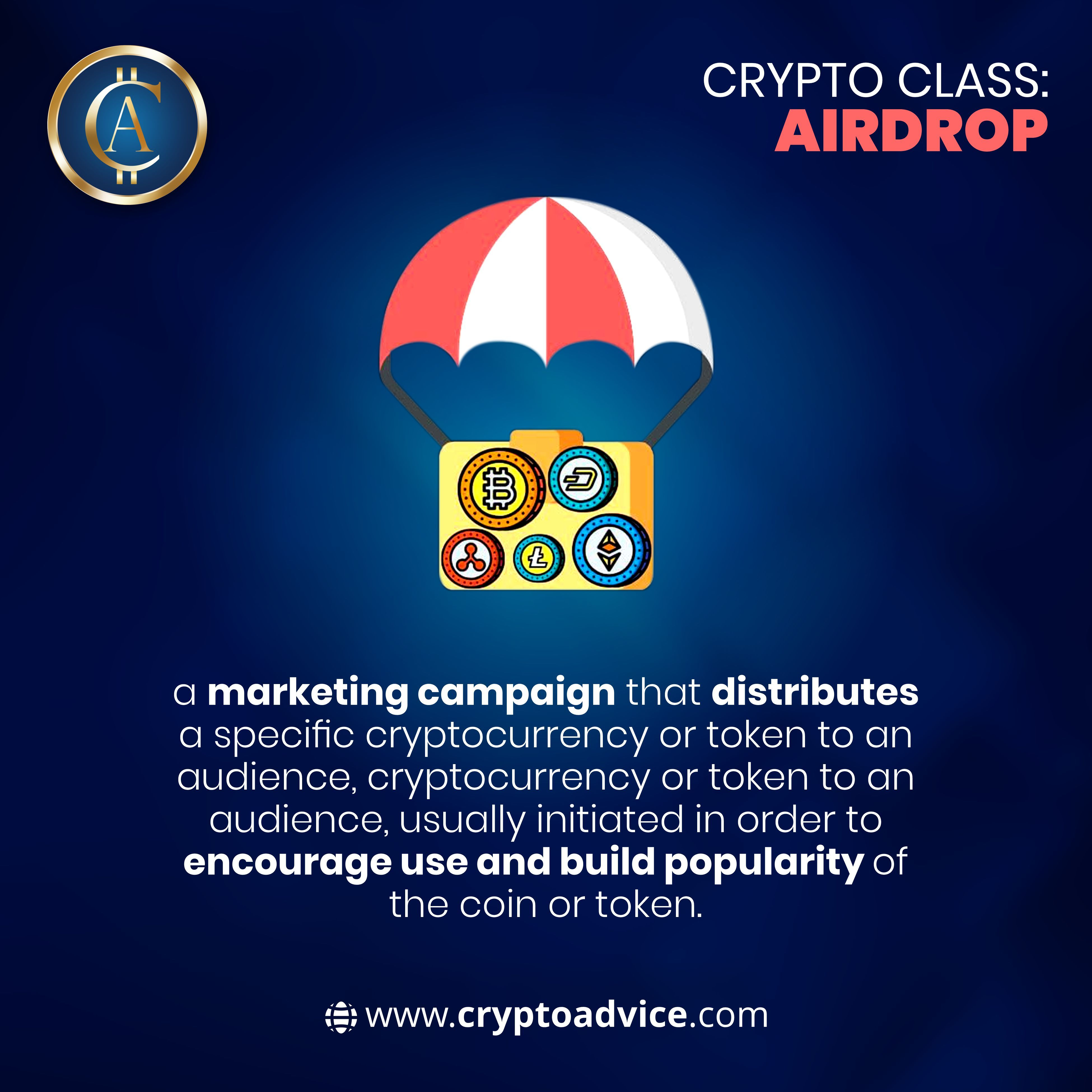 Have you ever participated in an Airdrop? 😎⠀ An airdrop is