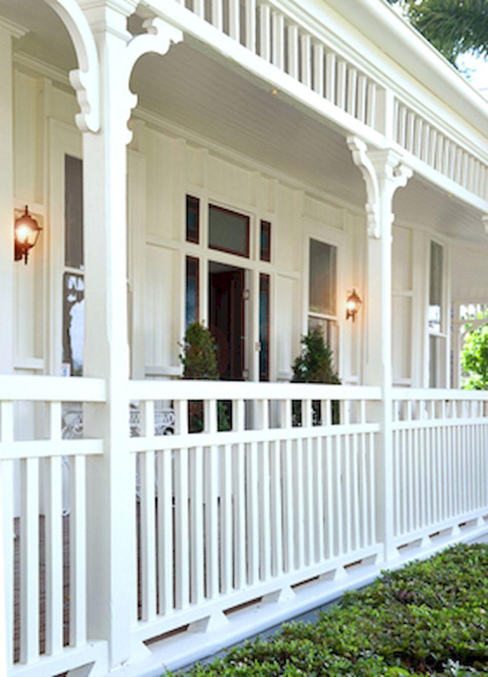65 Stunning Farmhouse Porch Railing Decor Ideas (64