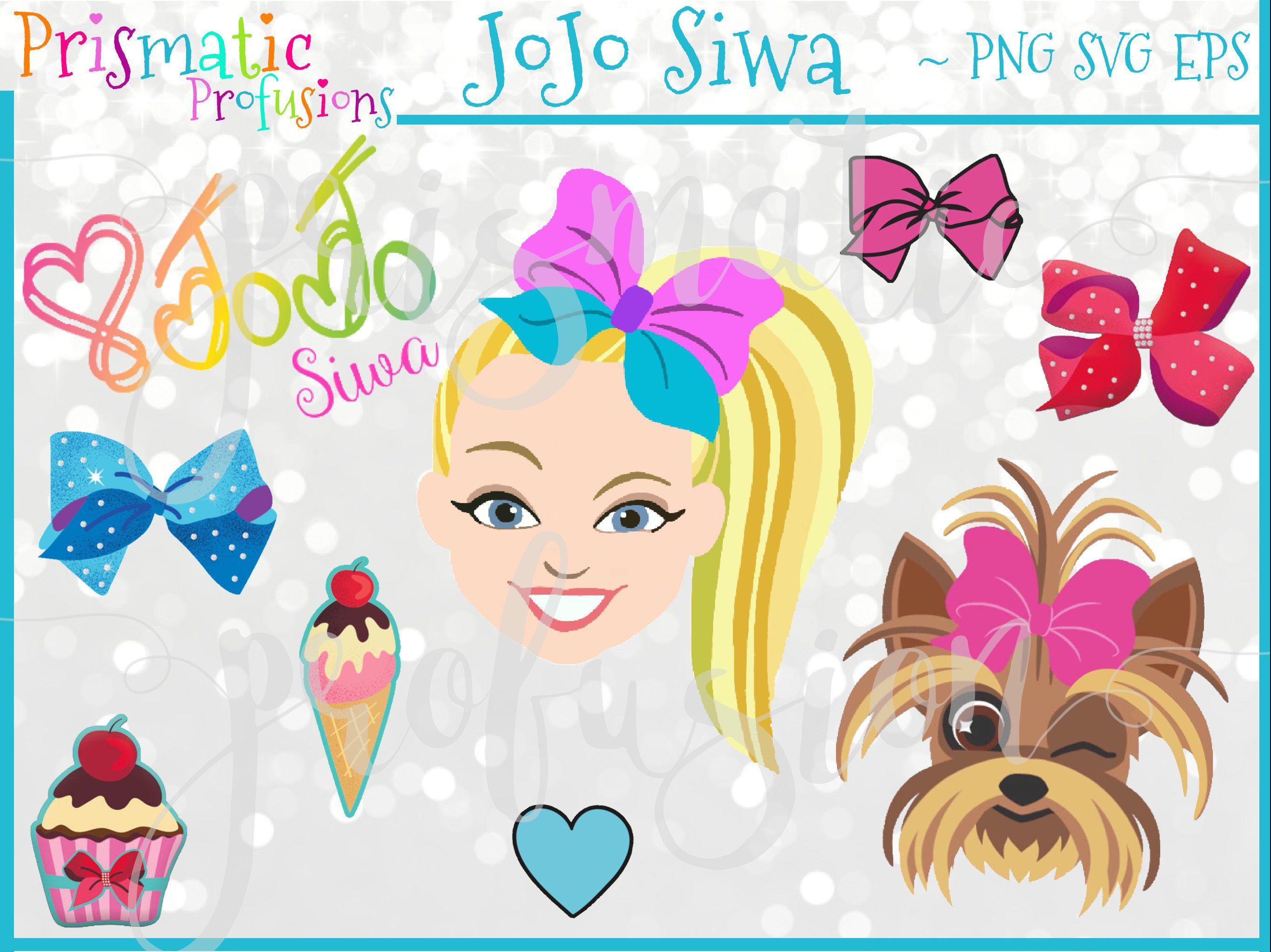 Jojo Siwa Image Clipart Diy Modern Printable Digital File Png Svg Eps Pdf Stickers Inst Jojo Siwa Birthday Free Birthday Printables Jojo Bows