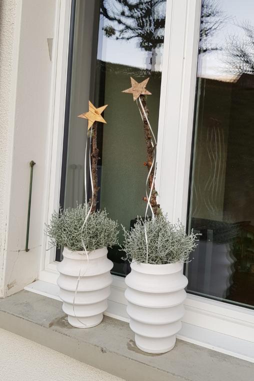 Fensterbank Deko in weiss DIY Anleitung - Blumen Flora-Line Tobias Kopp Grosshöchstetten #amaryllisdeko