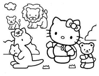 Hello Kitty Coloring Pages Hello Kitty Colouring Pages Hello