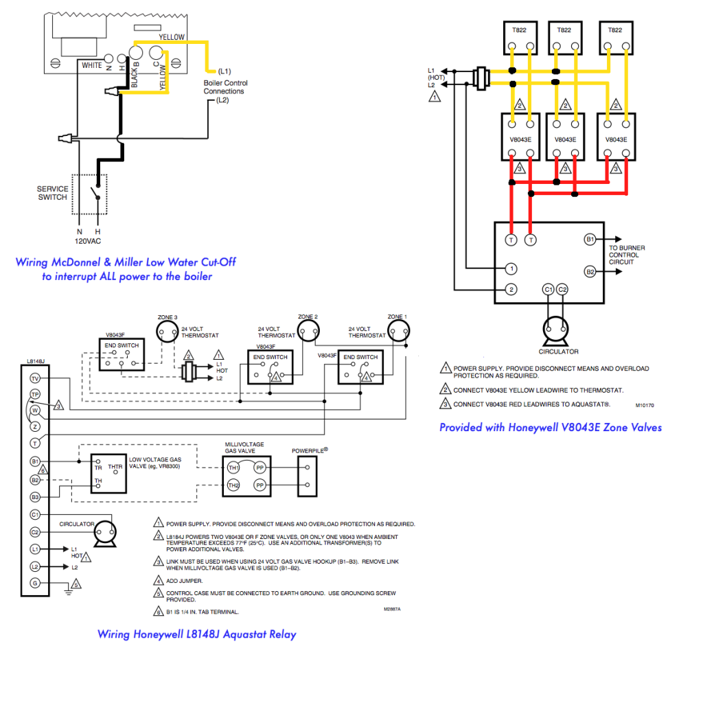honeywell boiler zone valves wiring | wiring 3-zone with honeywell ... boiler wiring diagram electrical symbols  pinterest