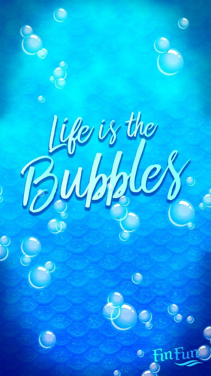 """life is in the bubbles"""" mermaid wallpaper for your phone or tablet"""