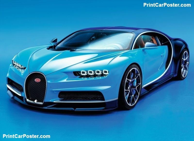 Bugatti Chiron 2017 Poster Autos