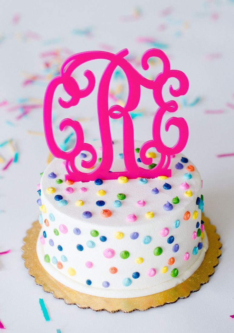 Monogram Cake Topper | Monogram cake, Cake and Snacks