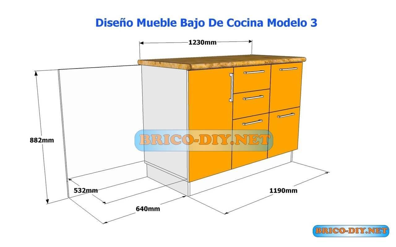 Bricolaje diy planos gratis como hacer muebles de melamina for Planos de bajo mesada de melamina