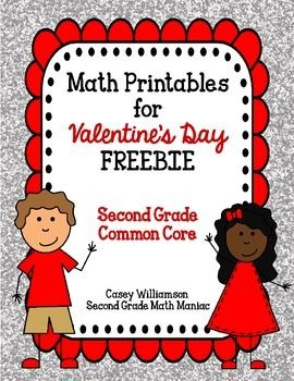 math printables for valentine 39 s day freebie second grade c math for second grade pinterest. Black Bedroom Furniture Sets. Home Design Ideas