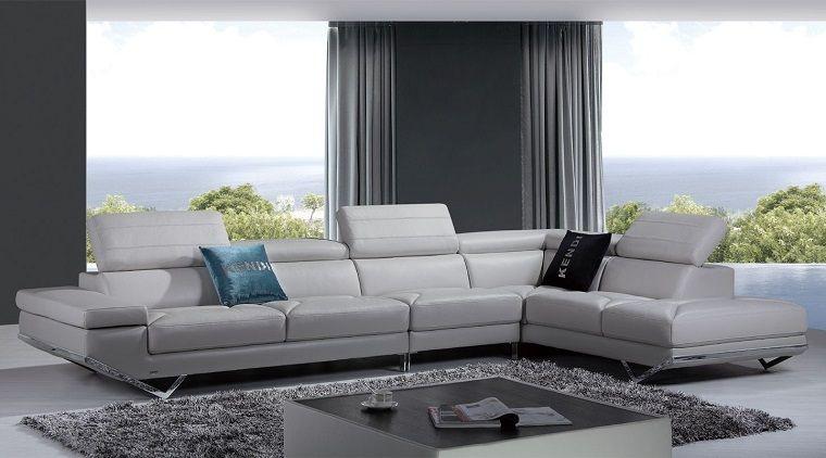 Pareti Grigie Salotto : Pareti grigie salotto divani pelle bianca interior design