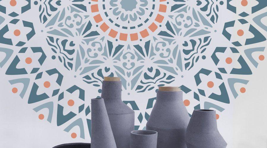 Stencil roset n mandala para decorar paredes y muebles de - Mandalas para pared ...