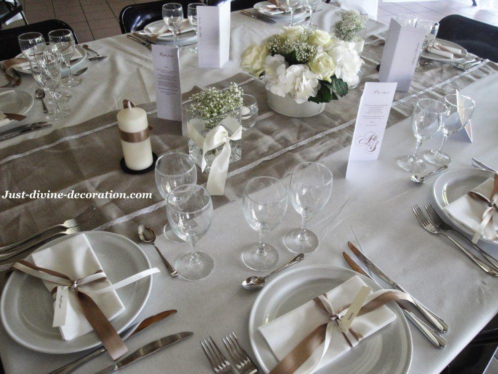 mariage lin ivoire blanc marron deco table pinterest ivoire marrons et le lin. Black Bedroom Furniture Sets. Home Design Ideas