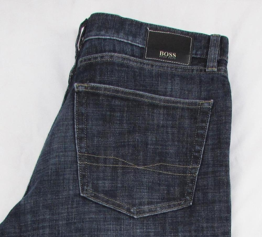 Men Hugo Boss Texas Jeans Straight Leg Dark Wash Whisking Stretch Sz 36 X 31 Hugoboss Classicstraightleg Hugo Boss Mens Outfits Hugo