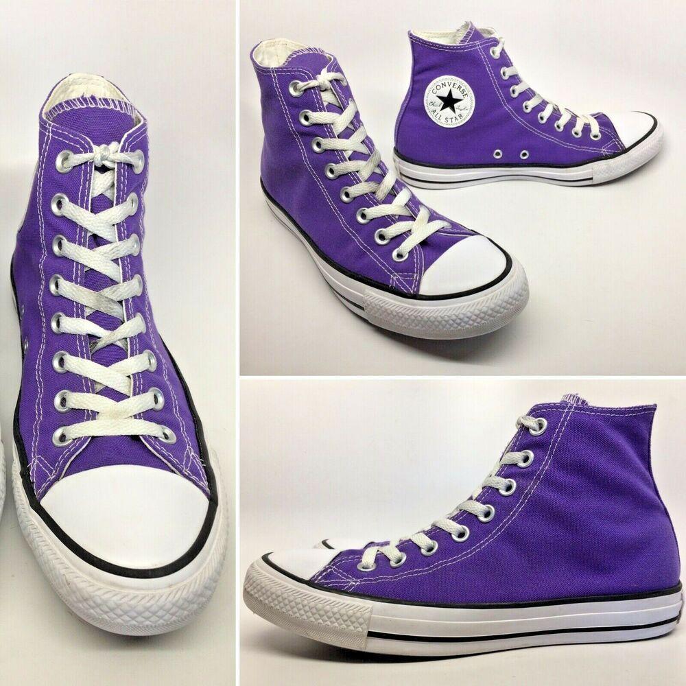 b76806f41956 CONVERSE Chuck Taylor All Star Hi Sneakers 137833F Electric Purple M 7.5 W  9.5