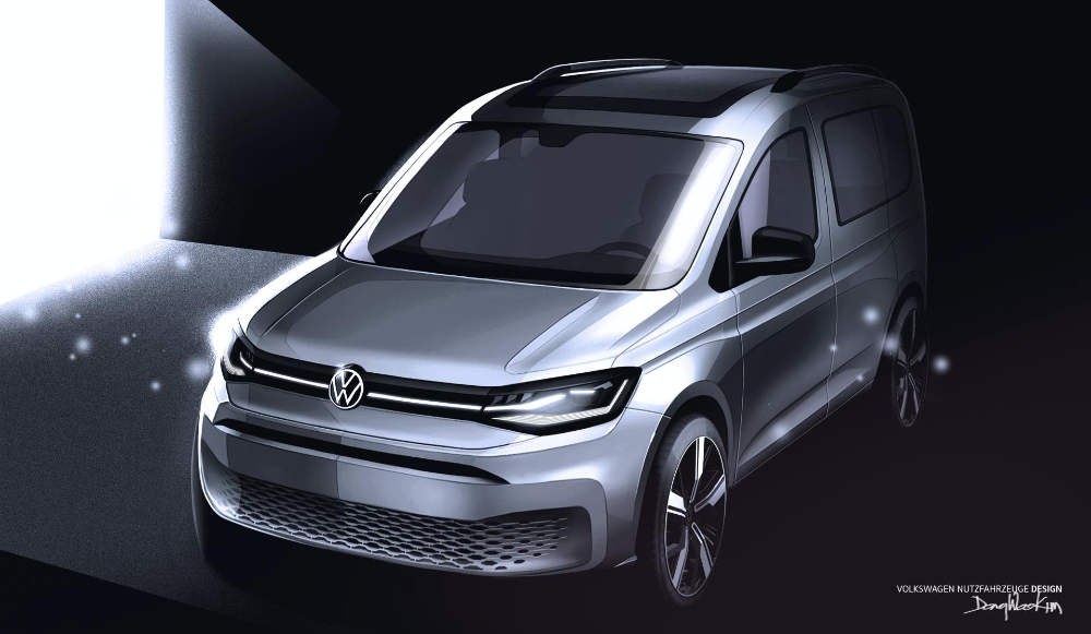 New Vw Caddy Previewed In More Realistic Sketches Ahead Of February Debut Carscoops In 2020 Volkswagen Caddy Volkswagen Commercial Vehicle